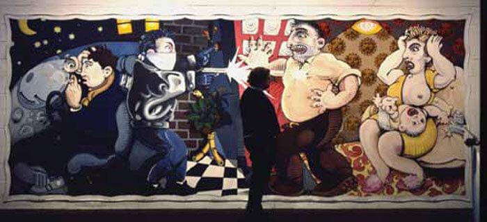 John Kindness, Night Canvass, 1987, Acrylic on canvas, 609.6 x 243.8 cm. Image courtesy of the artist.