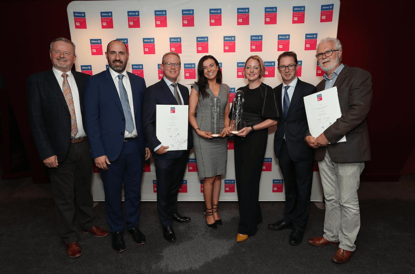 Avolon & RHA at the Allianz Buisnes to Arts Award
